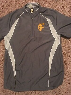 A4 N4241 Men's 1/4 Zip Batting Jacket Silver Gray, Men's Small/Youth Large NWOT