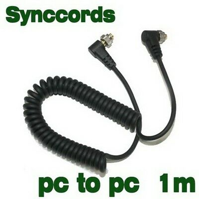 Male to Male FLASH PC Sync Cable for NIKON SC-15 SC-11 with Screw Lock
