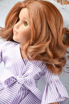"11"" Size Custom Doll Wig Fits All 18"" Dolls American Girl Dolls Gotz Hannah RED"