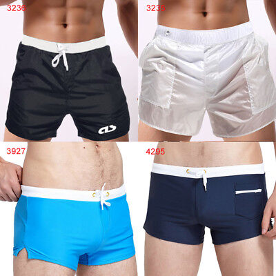 299670c984 Men's Beach Vacation Swim Trunks Zip Pocket Swimwear Board Shorts Surfing  Pants