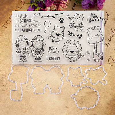 Clear Silicone Rubber Seal Stamp For Album Scrapbooking Photo Card Decor DIY