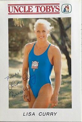 Australian  Olympic Legend Lisa Curry Signed Photo Card
