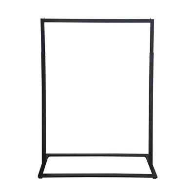 Boutique Slim Rack with Square Base- Garment Clothes Clothing Rail - Heavy Duty