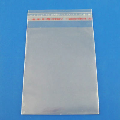 200 Clear Self Adhesive 7cm x 13cm Peel and Seal Plastic Bags for Small Obj C5H6