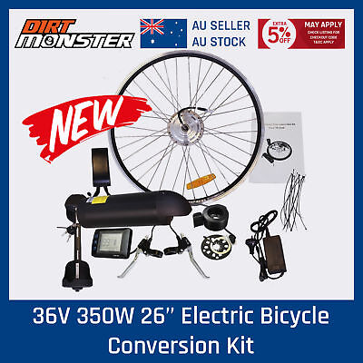Ebike Motor Hub Front Wheel 36V 350W Electric Bike Conversion kit LCD Display