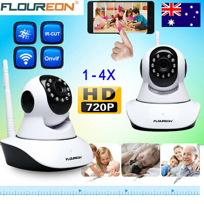 FLOUREON Wifi HD 720P IP Camera CCTV Security System Baby/Pet Monitor Night AU