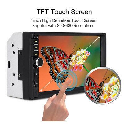 "7"" DOUBLE 2DIN Car MP5 Player Bluetooth 3.0 Touch Screen Stereo Radio HD+Camera"