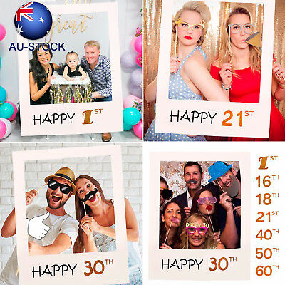 1st 30th 40th 50th Photo Booth Frame Photobooth Prop Birthday Wedding Decoration