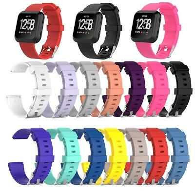 Replacement Silicone Wristband Watch Band Strap for Fitbit Versa Smart Watch S/L