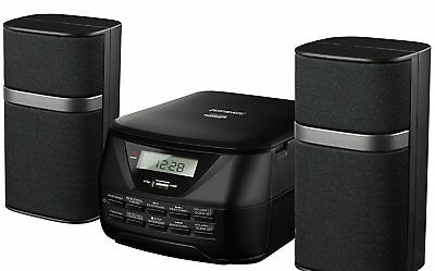 Micro Hi-Fi Audio System CD MP3 CD USB AM FM Radio SD Card Aux Connect and play