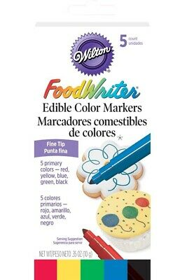 Wilton Edible Marker Food Writer Color Cake Decorating Bold Or Fine Tip 609-100