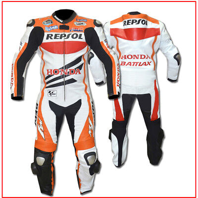 New Honda Biker Motorcycle Leather Racing Suit TS-786-111(USA 38,40,42,44,46,48)