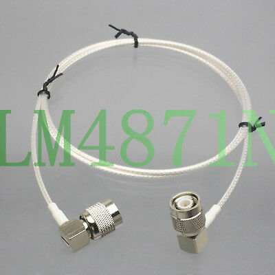"TNC male ""L"" to R/A RG316 2FT for UHF Antenna Wireless Microphone Front Rack Kit"