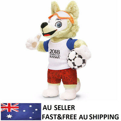 "2018 Russia FIFA World Cup Mascot Zabivaka Wolf Souvenir 9.8""Plush Soft Doll Toy"