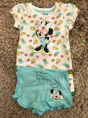 Primark Baby Girls Disney Minnie Mouse Short & Top Set Bnwt All Ages Summer