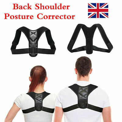 Mens Body Wellness Posture Corrector Adjustable Shoulder Back Support Brace Belt