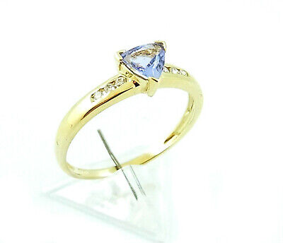 Damen Ring in Gold 585 mit Tansanit & Diamanten RW 60 (D1097)