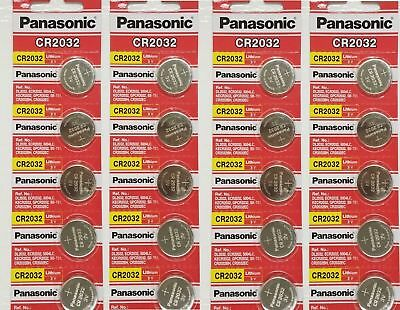 20 x SUPER FRESH Panasonic ECR2032 CR2032 Lithium Battery 3V Coin Cell Exp. 2027