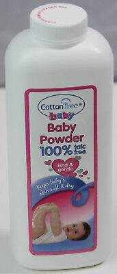 Cotton Tree Baby Body Powder 100% Talc Free Absorbs Moisture Soft Skin