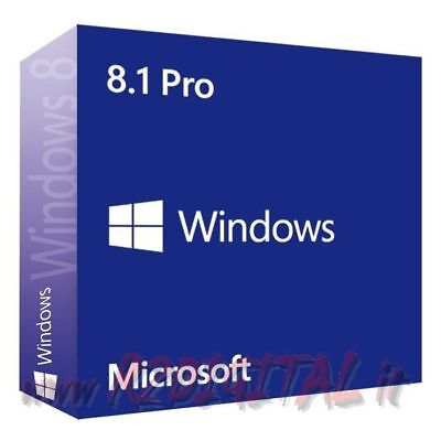 Windows 8.1 Professional Esd Adesivo + Dvd Pro 8 32 64 B Licenza Full Microsoft