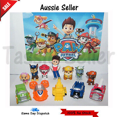 12pcs Paw Patrol Dog Puppy Rescue Character Toy Figure Figurine Cake Topper 2019