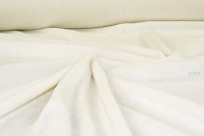 Seconds Offcuts Ivory Anti Pill Polar fleece fabric warm blanket material R