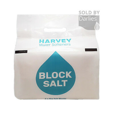 HARVEYS BLOCK SALT | 8KG 3 PACK | 6 X 4KG | Water Softeners Kinetico Harveys