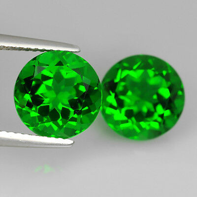 4.99 Ct Awesome AA Emerald Green Natural Moldavite Pair Round Cut Loose Gemstone