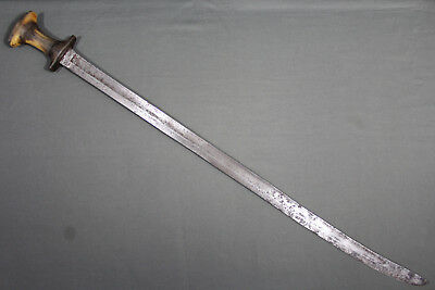 Ethiopian gurade sabre with local blade - Ethiopia, late 19th 1st half 20th