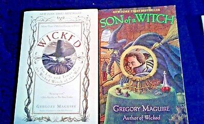 LOT of 2 Gregory Maguire  WICKED & SON OF A WITCH - Trade Paperbacks FREE SHIP