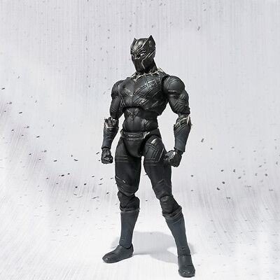 Marvel The Avengers Black Panther SHF 17cm Movable PVC Action Figure Model Gift