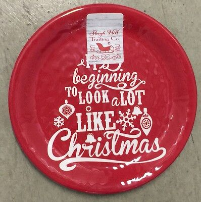 Sleigh Hill Trading Co Christmas Melamine Side Plates Set Of 4  sc 1 st  PicClick & SLEIGH HILL Trading Co Christmas Melamine Dinner Plates Set Of 4 ...
