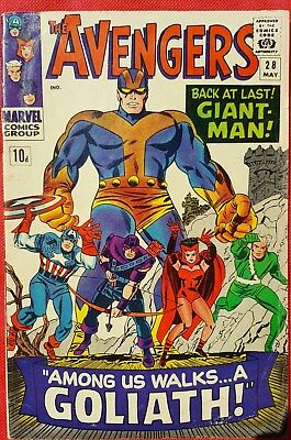 AVENGERS 28 Marvel Silver Age 1966 1st app Goliath 1st app of the Collector