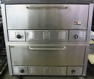 Double stack set of 2 Bakery Roasting Ovens natural gas 47,500 BTU's per oven