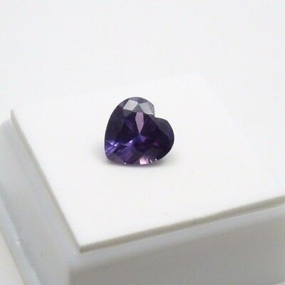 4.0ct+  Russian Lab Created Alexandrite Heart Shape - 10x10mm - Loose Gemstone