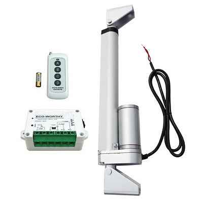 "12V 8"" Linear Actuator Motor 330lb Max Lift & Wireless Remote Controller UK Ship"