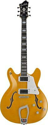 Hagstrom Super Viking Semi-Hollow Flame Maple Electric Guitar - SUVIK-DDL