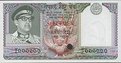 Nepal 10 Rupees , ND. 1974 P 24sct Color Trial Specimen Rare