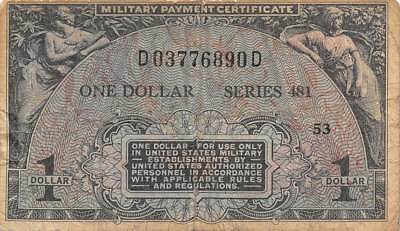 USA / MPC   $1  ND. 1951  M26  Series 481  Plate 53  Circulated banknote