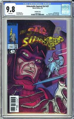 UNBEATABLE SQUIRREL GIRL #27 CGC 9.8 LENTICULAR VARIANT Marvel Legacy