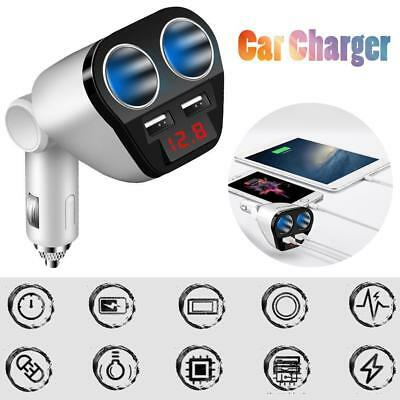 12V/24V Car Multi Cigarette Lighter Socket Splitter Adapter Dual USB Charger