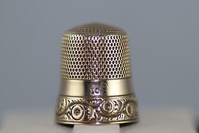 Vintage 14k Sewing Thimble size 10