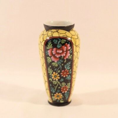 Petit vase faïence Clamecy Duquenelle (1918-1937), Nevers, French old ceramic