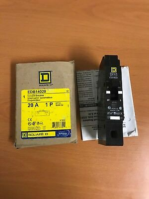 New Square D EDB14020 Circuit Breaker (20 Amp)