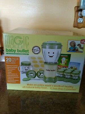 Magic Bullet BABY BULLET Complete Baby Food Making System New open Box