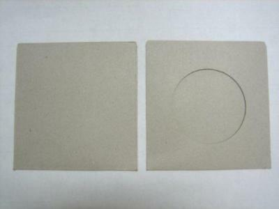 100Pcs Eco Friendly Cd Dvd Cardboard Sleeve With Window Opening, Gray, Post