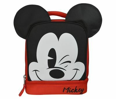 GDC Disney Mickey Mouse Ears Dual Lunch Kit Bag Novelty Character Fashion Access