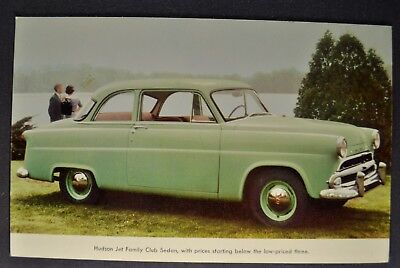 1954 Hudson Jet Family Club Sedan Large Postcard Brochure Excellent Original 54