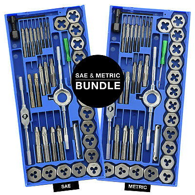 Metric & SAE Tap and Die | 80pc Set Tapping Threading Chasing Storage Case
