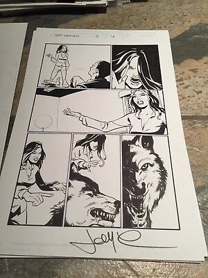 Marvel Original Comic Art Get Kraven Signed By John McCrea Artist $18 Isue 3 P16